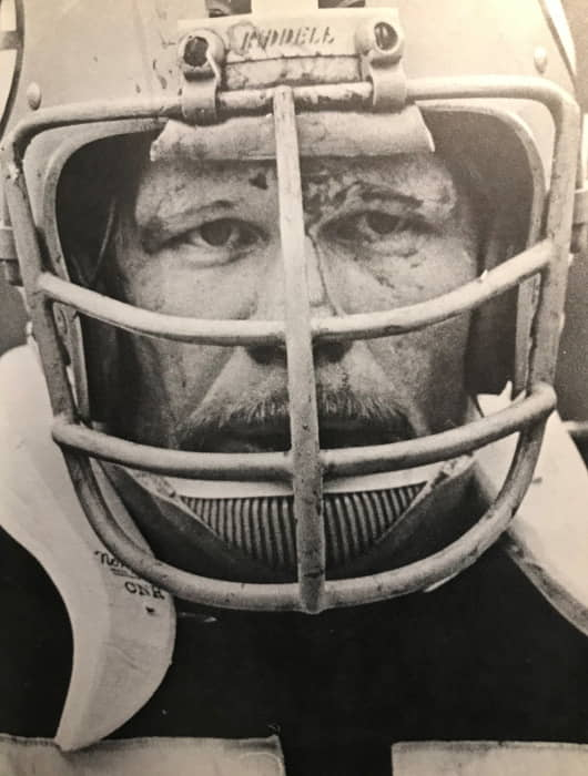 Close-up photo of Green Bay veteran center Ken Bowman