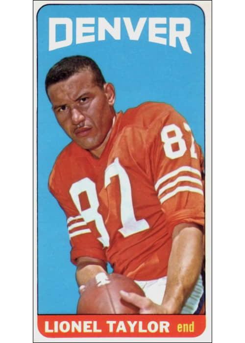 Lionel Taylor 1965 Denver Broncos Topps Card #65