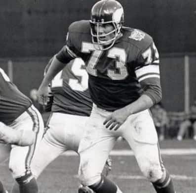 Ron Yary of the MInnesota Vikings. 1968 to 1982